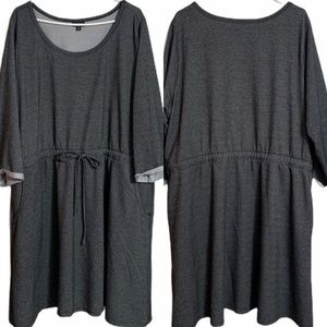 Torrid Dress Plus Size 3 Solid Gray Pull Over